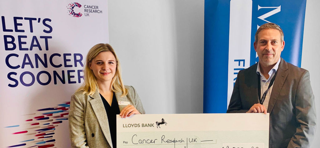 cancer reasearch cheque