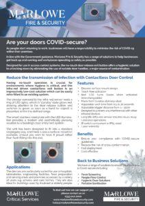 contactless door release exit button