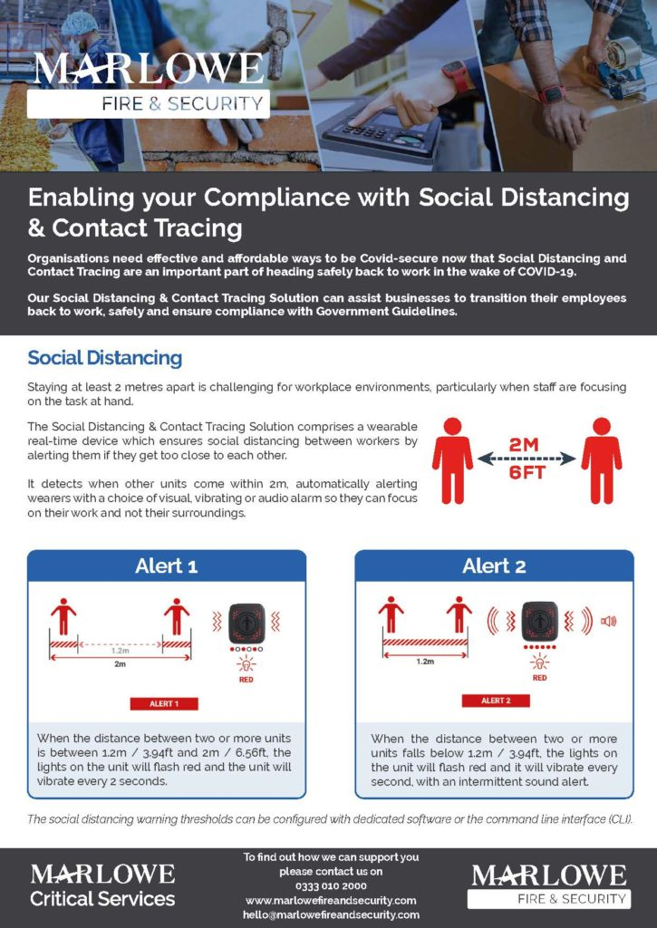 Social Distancing & Contact Tracing Solution